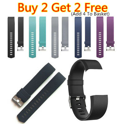 For Fitbit Charge 2/HR Replacement Silicone Rubber Band Strap Wristband Bracelet
