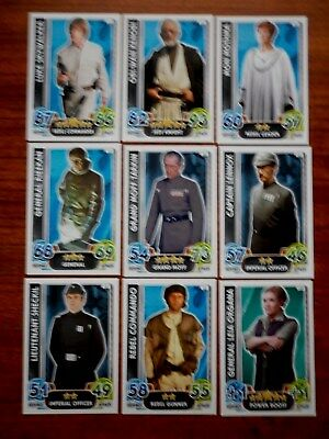 Star Wars - Force Attax Lot Of 9  (Topps collector cards) Lot 9