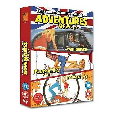 ADVENTURES OF A TAXI DRIVER PRIVATE EYE PLUMBER'S MATE DVD Comedy UK Rele New R2