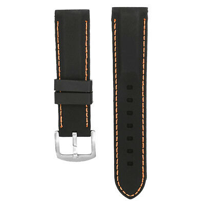 Soft Silicone Rubber Watch Strap Band Waterproof Buckle Clasp for Smartwatch