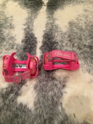 Barbie Hot Pink Clip On Wheel Shoes