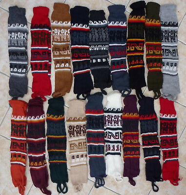 Peruvian Leg Warmers Alpaca Wool Peru Thermal Warm Knitted Warm Stirrups Socks