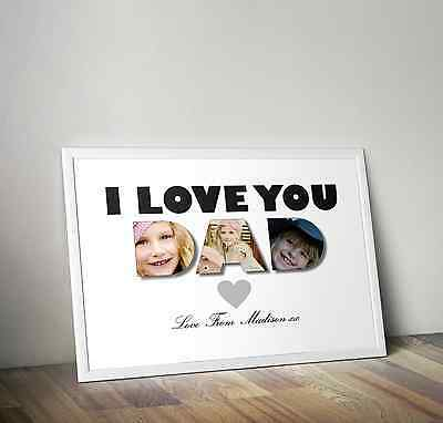 Daddy / Dad -  Present - Personalised Photo Print - Custom Father's Day Gift