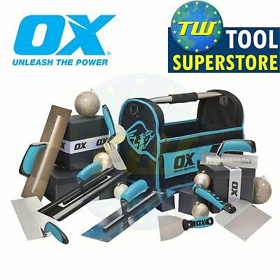 OX Complete Exclusive Plasterers Bag; Various Trowels OX Pro Tote OX-CD6-XMS18