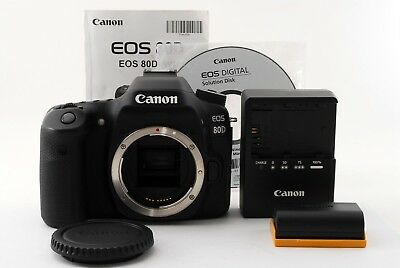 [Excellent] Canon EOS 80D 24.2MP Digital SLR Camera Black Body from Japan 331302