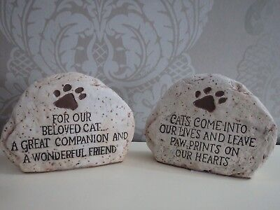 Memorial Dog Cat Stone Garden Or Home Paw Prints Cat Prints On Your Heart
