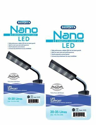INTERPET NANO LED  LIGHT UNIT PLANT GROWTH FISH TANK AQUARIUM TROPICAL or SUMP