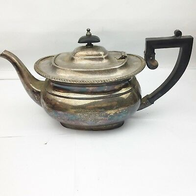 Vintage Staffordshire County Council Silver Plated Teapot 25 Years Service