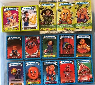 2018 GARBAGE GANG/GARBAGE PAIL KIDS UK SERIES BASE & CHASE & BINDER & Wrappers