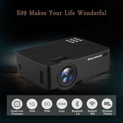 7000 LM Android 6.0.1 Multimedia Home Theater Projector Wifi HD 1080P 4K HDMI AV