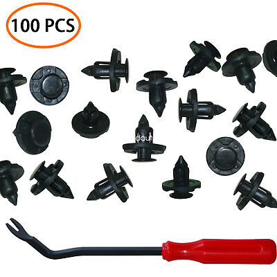Car Clip Bumper Fender Clips Plastic Fasteners 100 PCS Plastic Rivets For Nissan