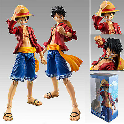 Anime One Piece Heroes Monkey D Luffy PVC Action Figure Toy Boys Fans Collection