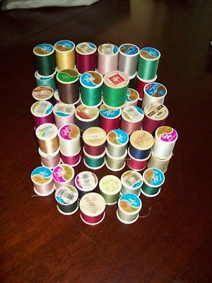 Big Mixed Lot Of 48 Spools Sewing Thread Big Variety Of Colors & Brands