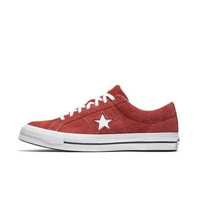 Mens Converse One Star Ox Low Suede Red White 158434C