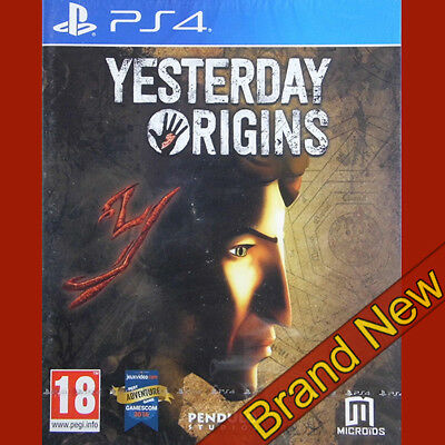 YESTERDAY ORIGINS - PlayStation 4 PS4 ~18+ Brand New & Sealed!