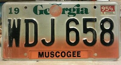 1995 Georgia Muscogee County license plate tag NO RESERVE!!!! $0.99