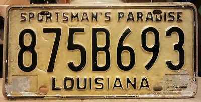 Louisiana Sportsmans Paradise license plate tag NO RESERVE!!!! $0.99