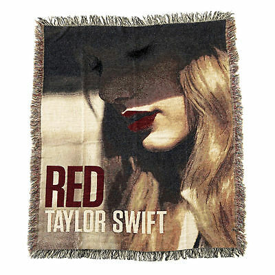 "Taylor Swift ""RED"" Concert Tour Album Cover 50""x60"" Throw Blanket/Tapestry"