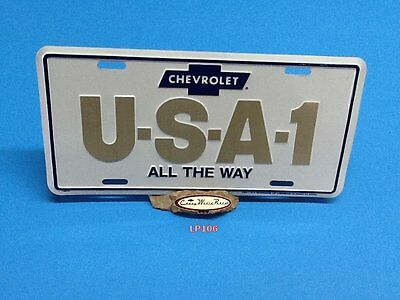 Chevrolet Usa-1 All The Way Aluminum License Plate Embossed Car Tag Made In Usa