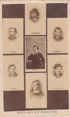 CDV John Wilkes Booth and co-conspirators