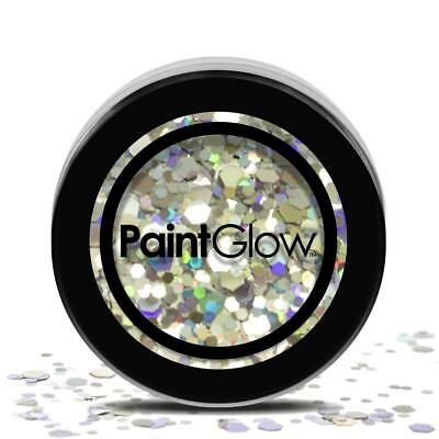 Malen Glow Cosmetic Face & Body Chunky Glitter Festival Mood - 3g - Disco Fever