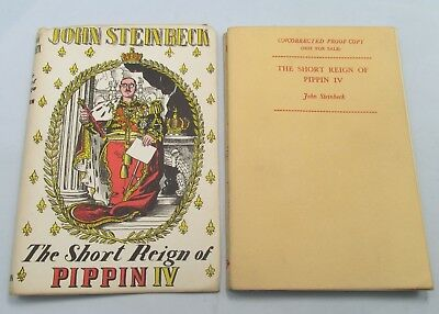 RARE JOHN STEINBECK PROOF COPY THE SHORT REIGN OF PIPPIN IV 1st ED 1957 VINTAGE