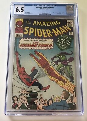 AMAZING SPIDER-MAN 17 CGC 6.5 FN+ Marvel 1964 2nd GREEN GOBLIN!! OW Pages