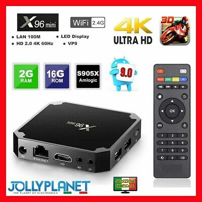X96 Mini Android 9.0 Quad-Core S905W 2GB 16GB 4K Smart TV Box WiFi Media Player