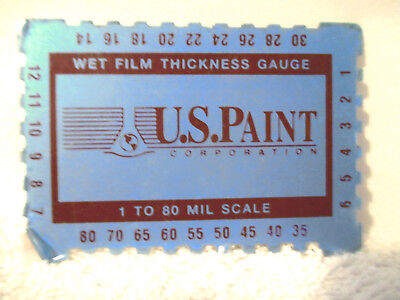 U.S. Paint Corp . Wet Film Thickness Gauge 1-80 mil Scale still has factory film