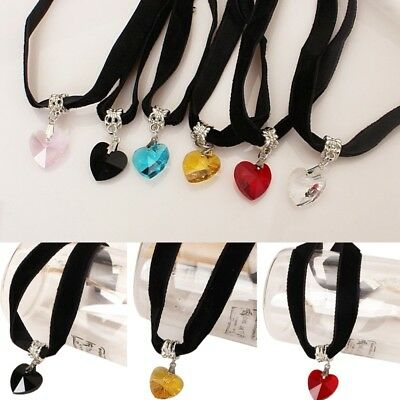New Women Stylish Choker Heart-shaped Pendant Ladies Outfit Neck Accessory Chic