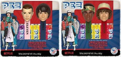 Stranger Things Pez Set Of 4 - New For 2018 - In 2 Boxed Sets - Ready To Ship
