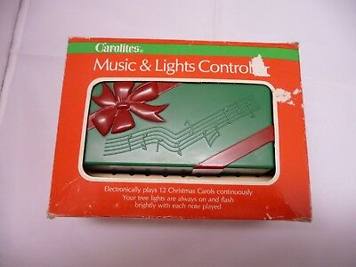 Vintage 1980 Carolites Controller Christmas Lights & Sound.