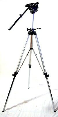 Bogen/Manfrotto 116 HD Head 3068 Tripod SYSTEM WITH MID SPREADER SERVICED 39Lbs!