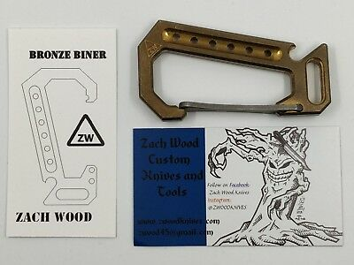 Zach Wood Bronze Carabiner