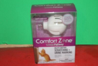 Comfort Zone Diffuser with Feliway for Cats To Control Scratching+Urine Marking