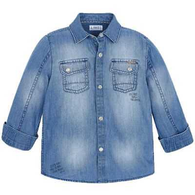 Mayoral Camicia Jeans Bambino Denim 4152-037