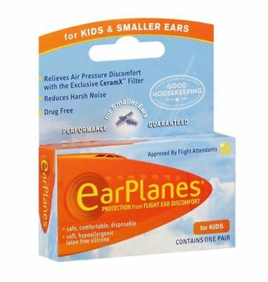 EarPlanes Ear Plugs Kid's Small Size 1 Pair (Pack of 6)