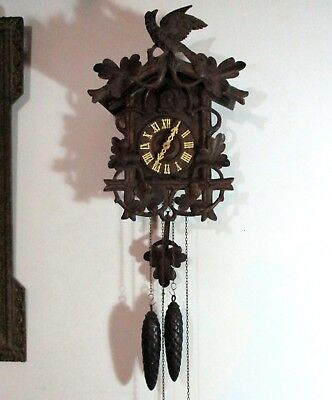 Antique Black Forest Cuckoo Clock - Working