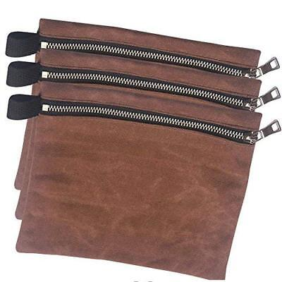 Small Waxed Canvas Tool Bags Heavy Duty Multi-purpose Tool Pouches 3 Pack