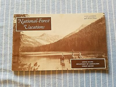 Vintage National-Forest Vacations booklet by the US Dept of Agriculture  1955