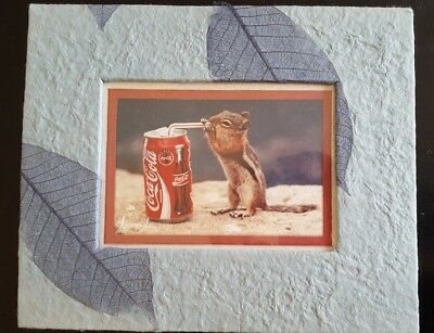 Coke Coca Cola picture Chipmunk Squirrel Drinking from Straw by Korczynskis