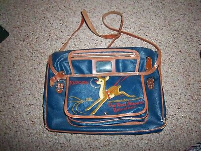 RARE Vintage Rudolph The Red Nosed Reindeer Satchel Purse