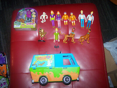 Lot of Scooby Doo Figures & Mystery Machine!! Ghost Patrol! Morphing Monsters!