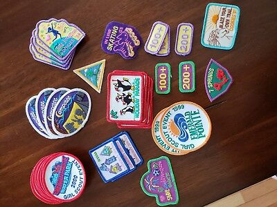 Girl Scout Patches lot of 37