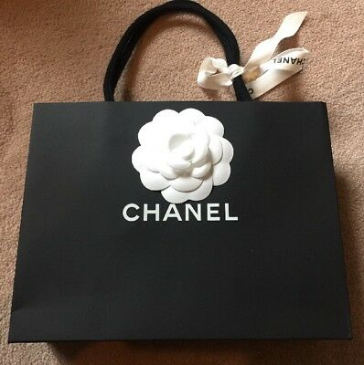 Small CHANEL Gift Bag W Camellia And Ribbon.