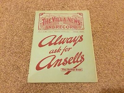 1931/2 Aston Villa v Portsmouth .  FA Cup Rd 4 Replay