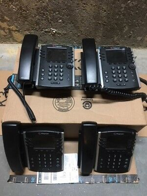 Polycom VVX 411 Business Media Phone 12 Line 2200-48450-001 w/ Power Lot of 4