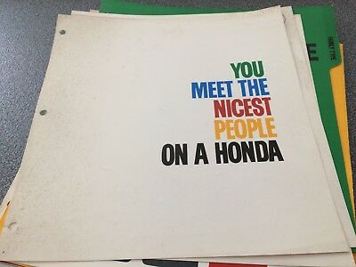 1965 Honda You Meet The Nicest People Motorcycle-Original Dealership Manual
