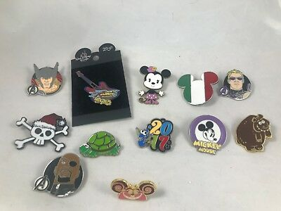 Lot of 12 Disney Pins Cheshire Cat Avengers Toy Story Mania++++