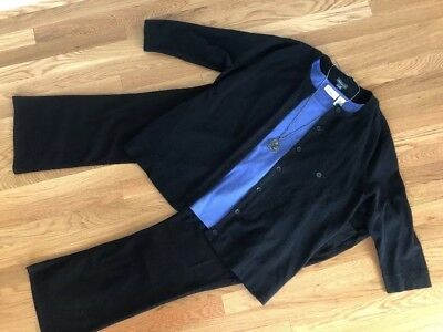 All New!  Women's Pls Sz Outfit: XXL Cardigan; 2X Top; 18W Jeans; Necklace.